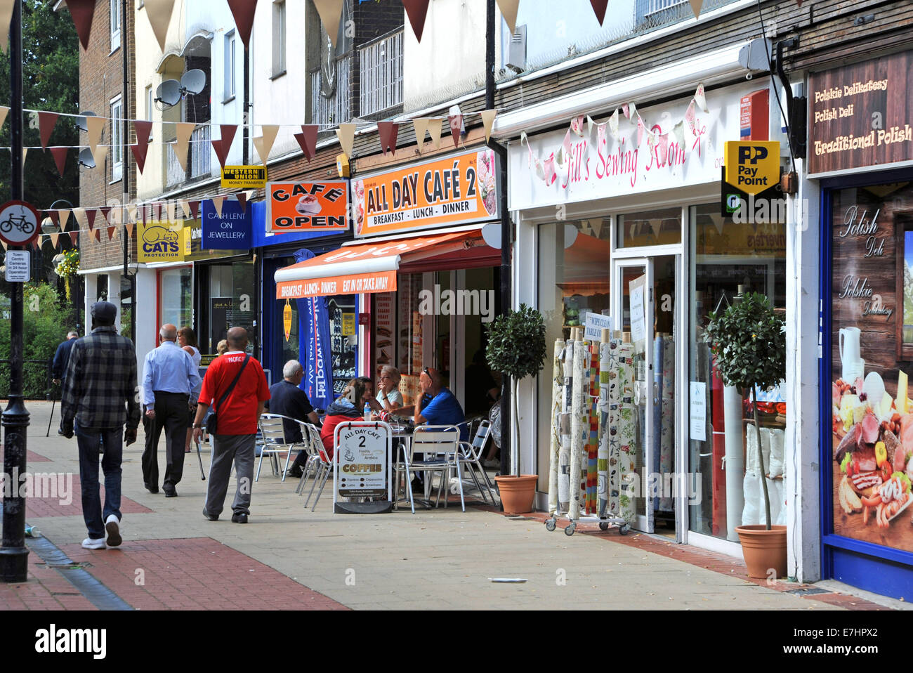 Crawley West Sussex Uk The Old Shopping Precinct And