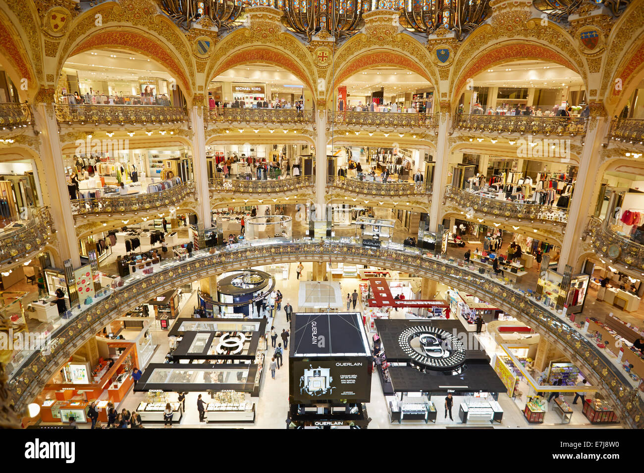 Galeries Lafayette Interior In Paris Stock Photo 73546172