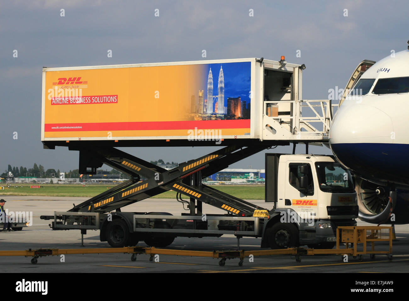Dhl Airline Business Solutions Catering Truck Stock Photo