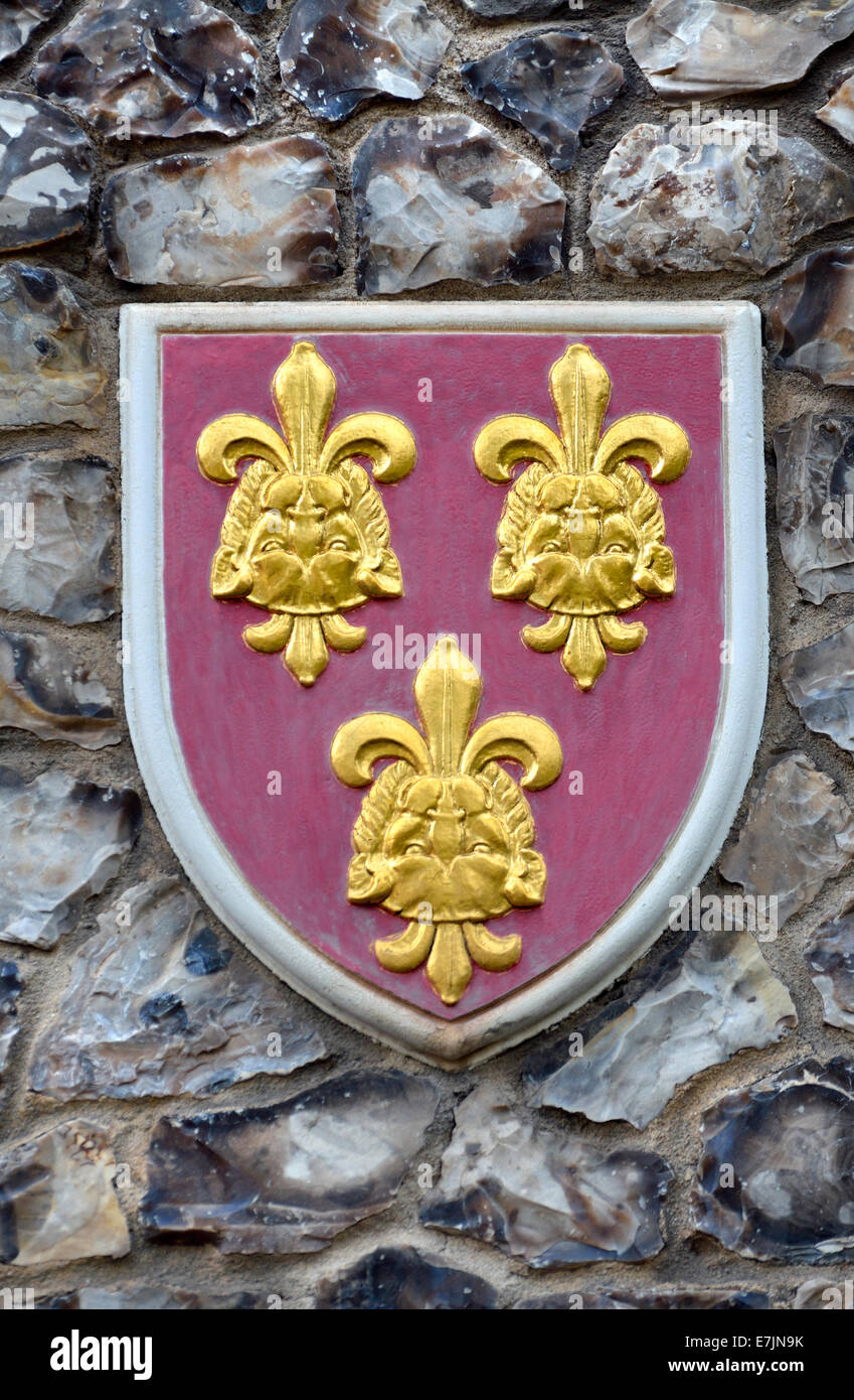 London, England, UK. Church House In Deans Yard, Westminster. Coat Of Arms  Set In The Outside Wall: Diocese Of Hereford