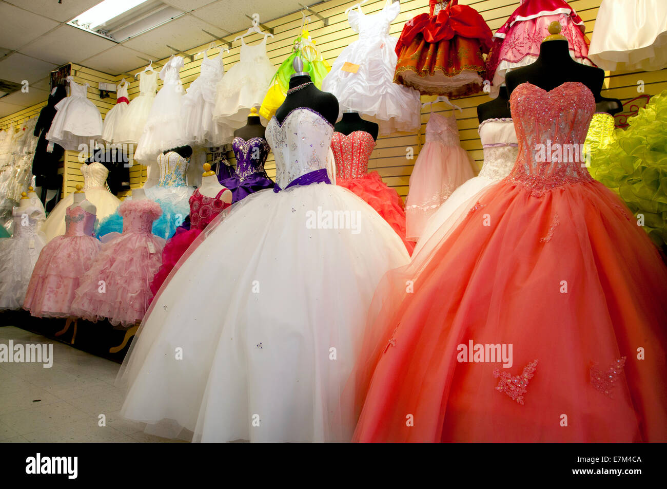 Gowns in downtown los angeles - Stock Photo Wedding Store In Downtown Los Angeles Ca 2014