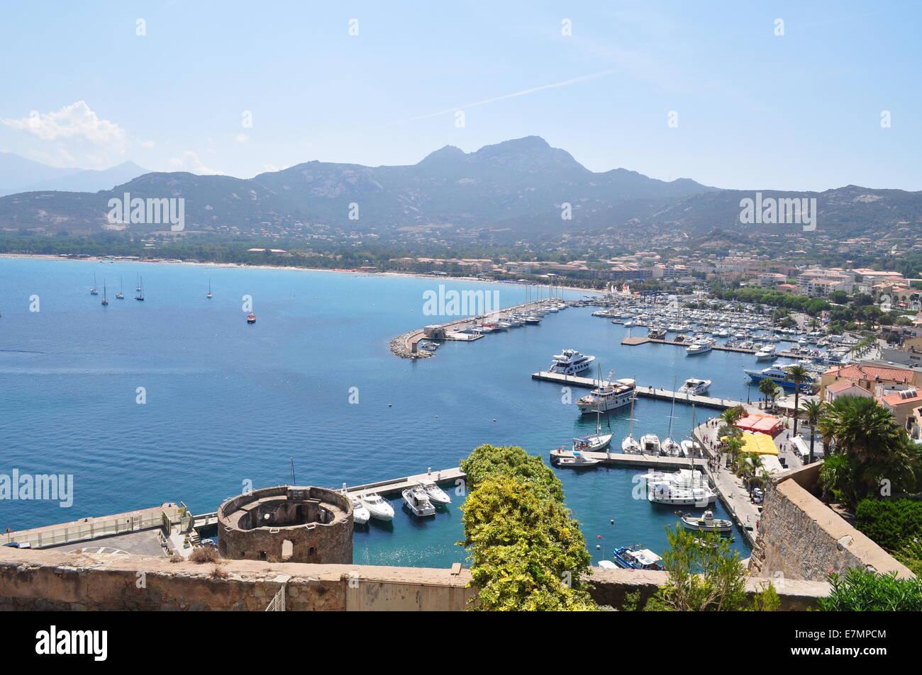 The harbour of Calvi. Le port de Calvi, Corse Stock Photo, Royalty ...
