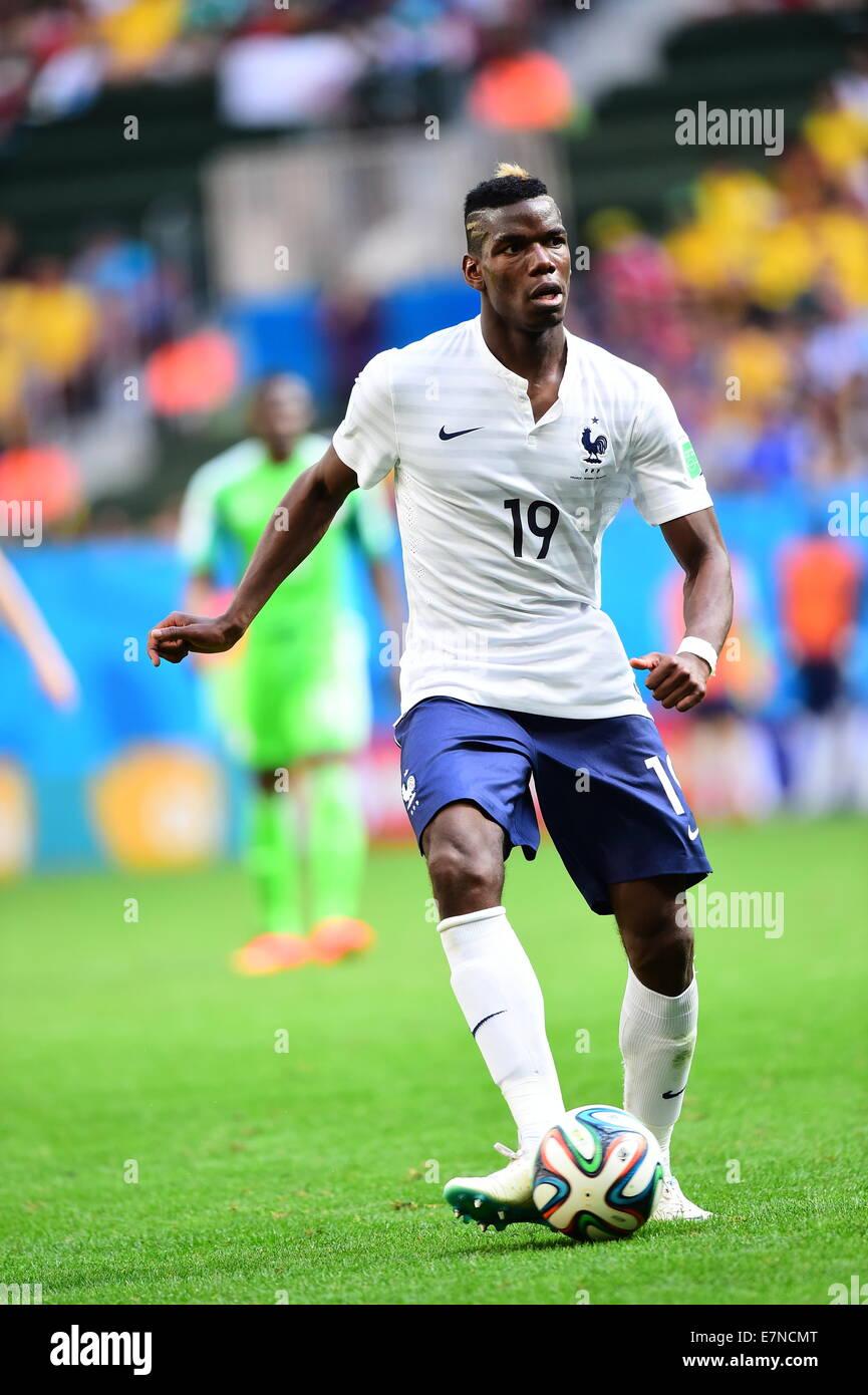 Paul Pogba of France France v Nigeria round of 16 FIFA World