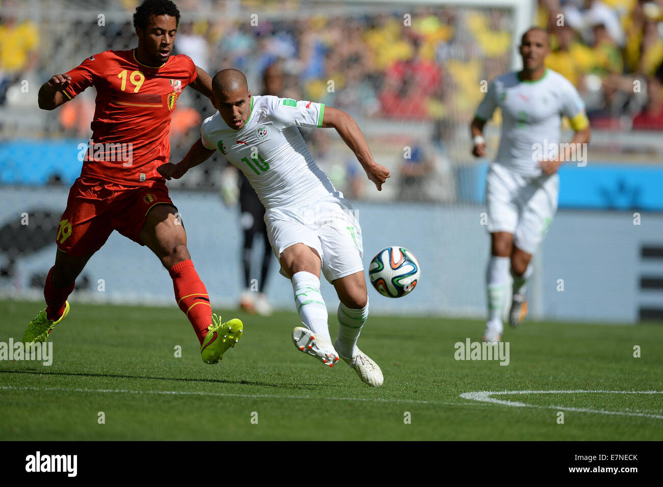 Moussa DEMBELE and Sofiane FEGHOULI Belgium v Algeria group