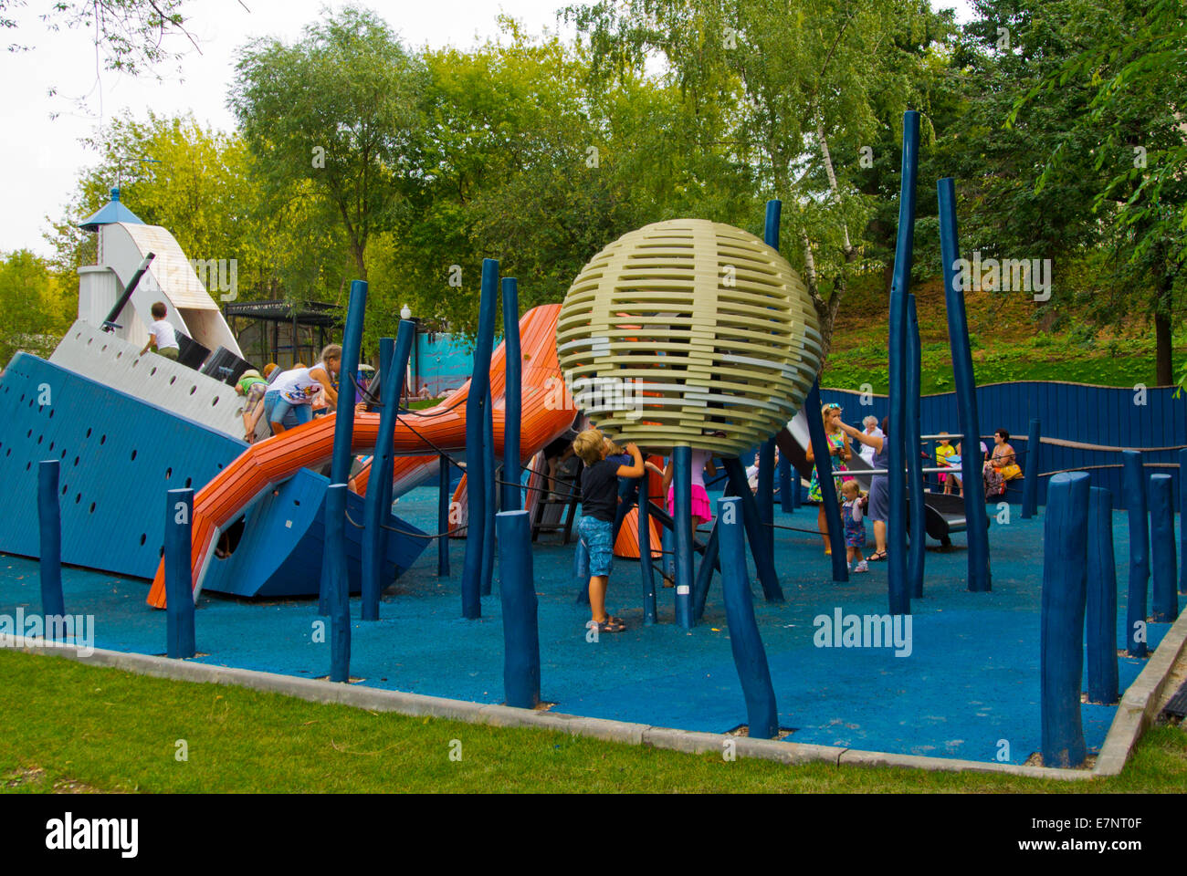 Children's playground, Gorky Park, Moscow, Russia, Europe ...
