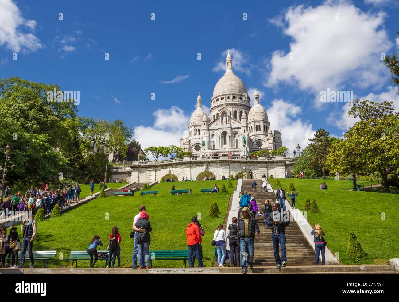 basilica church city france montmartre paris sacre