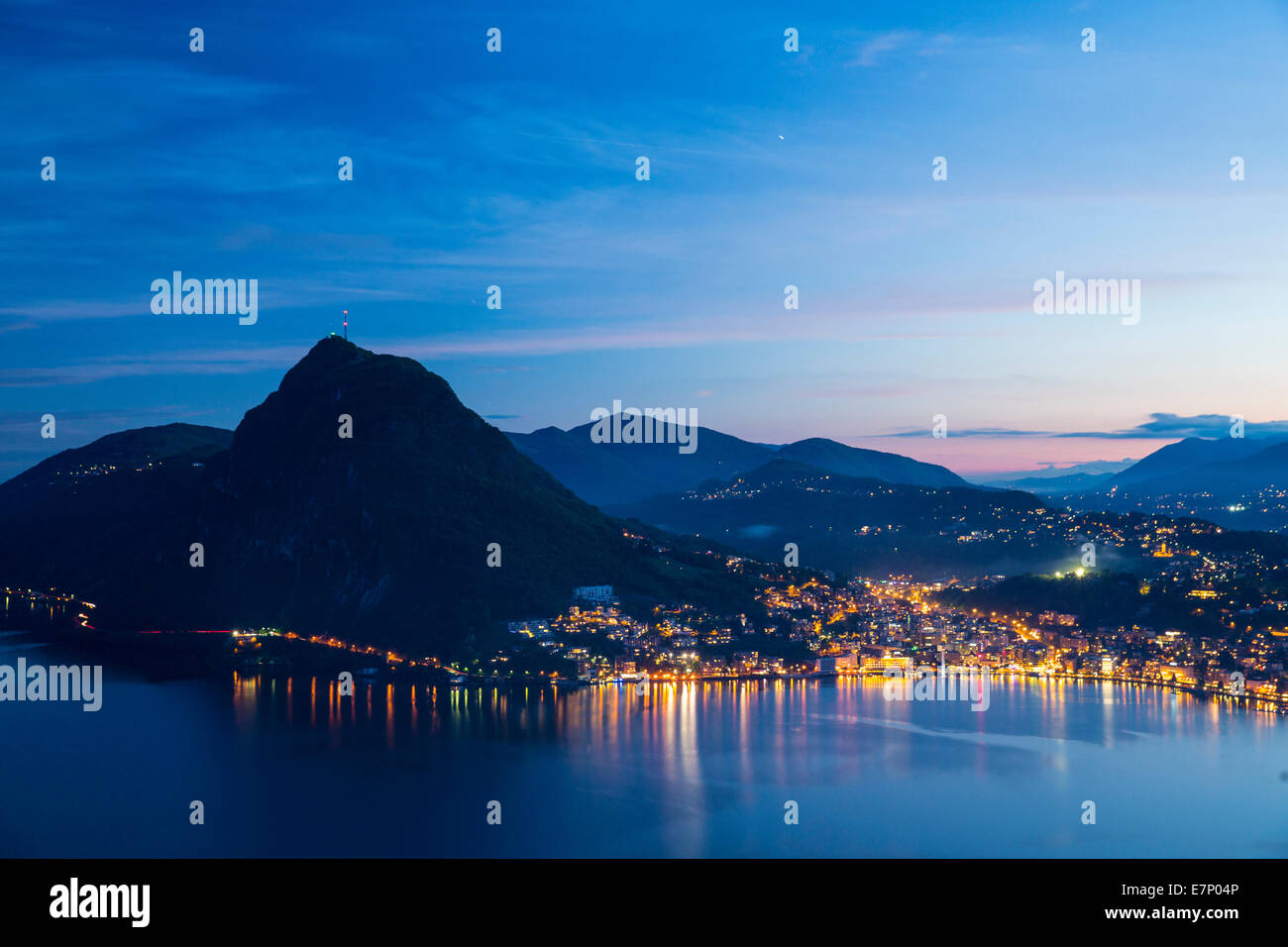 lake lugano lugano san salvatore lake lugano canton ticino stock photo royalty free image. Black Bedroom Furniture Sets. Home Design Ideas