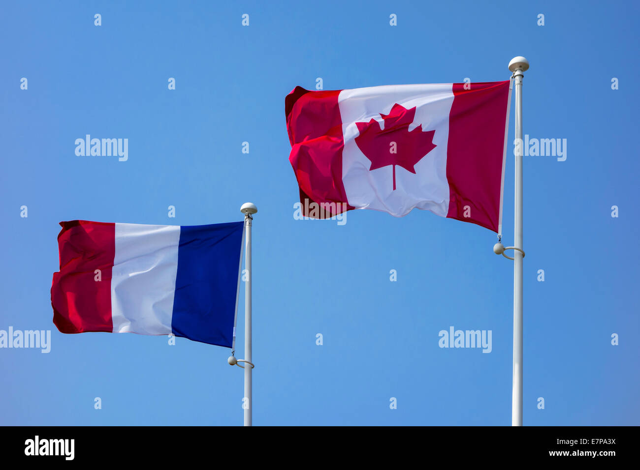 French Canada Flags Stock Photos & French Canada Flags Stock ...