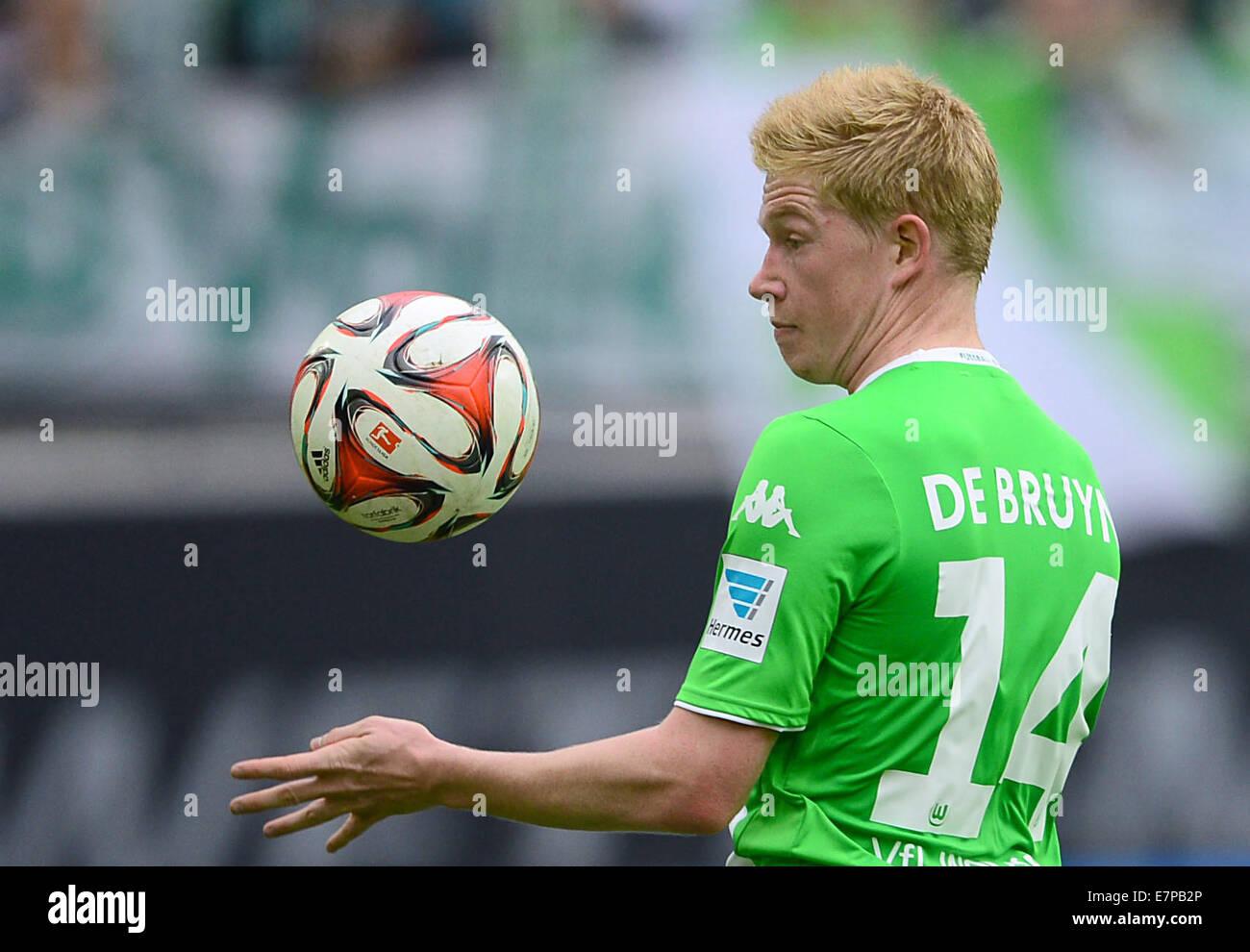 Wolfsburg, Germany. 21st Sep, 2014. Wolfsburg's Kevin De