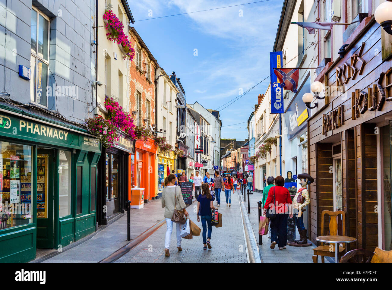 Shops On South Main Street In The Town Centre Wexford