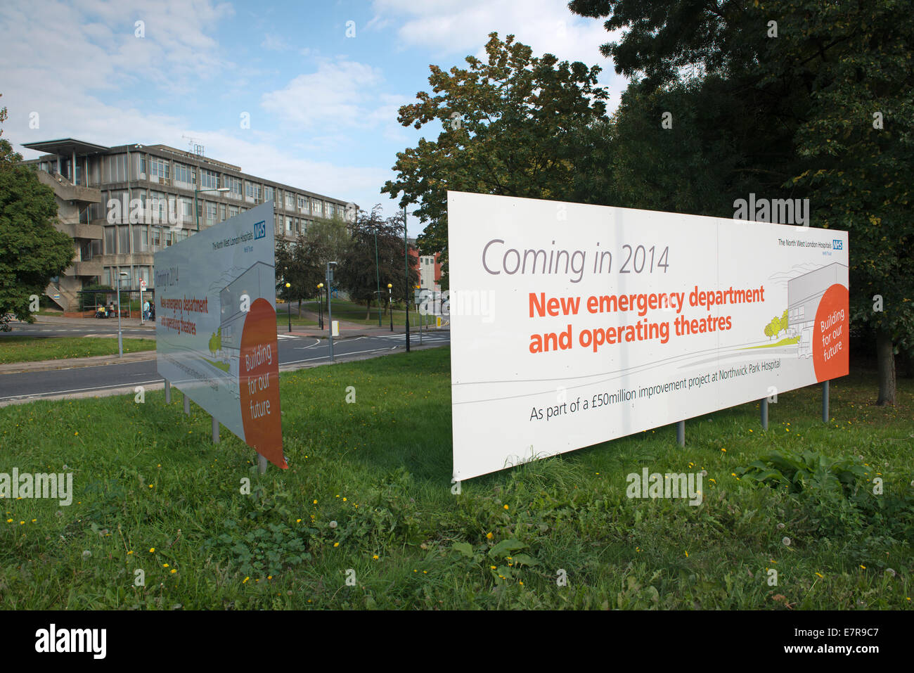 Signs announce new emergency department and wards at northwick signs announce new emergency department and wards at northwick park hospital harrow opening in 2014 sciox Image collections