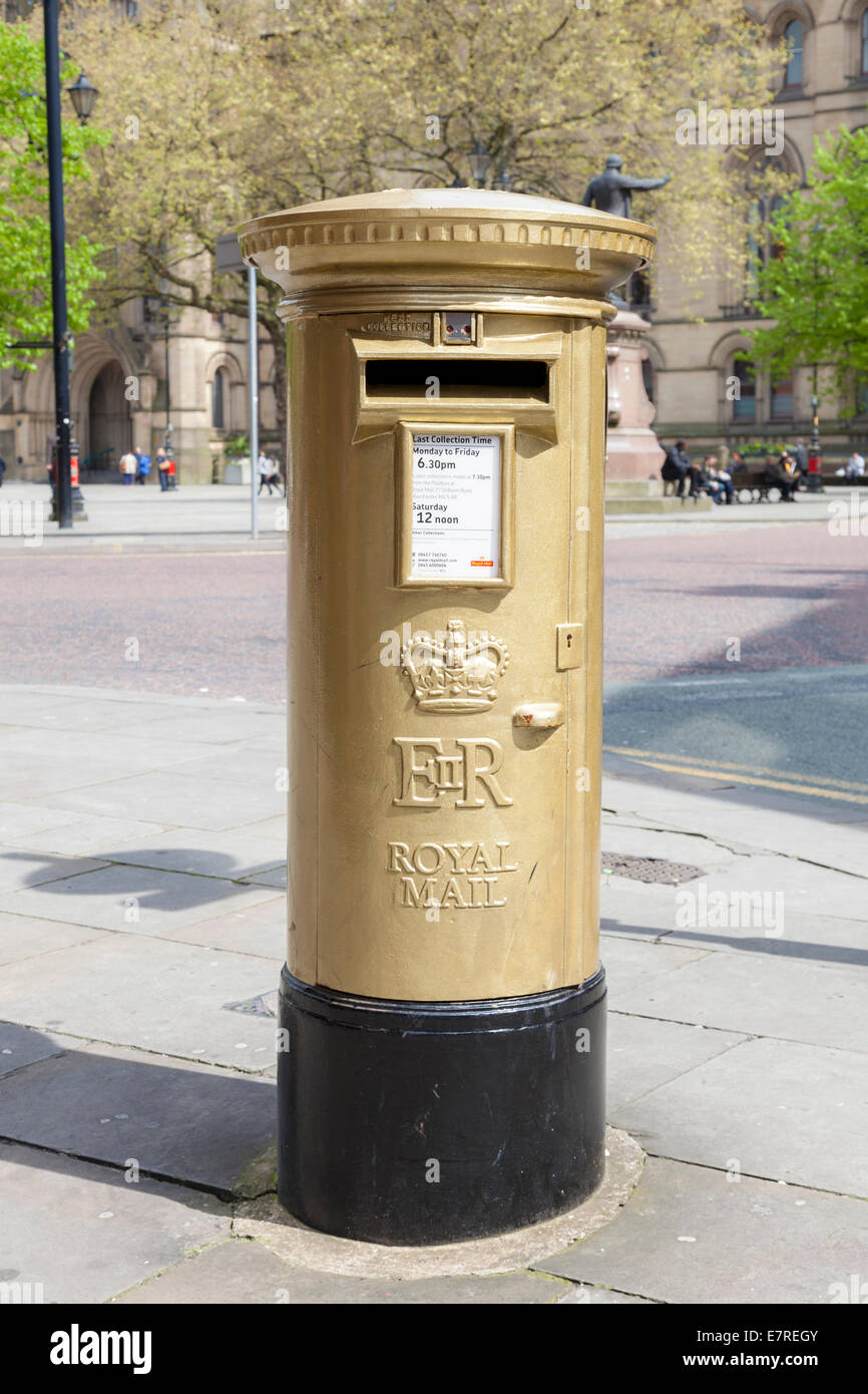 philip hindes stock photos philip hindes stock images alamy gold postbox manchester england uk to mark philip hindes gold medal