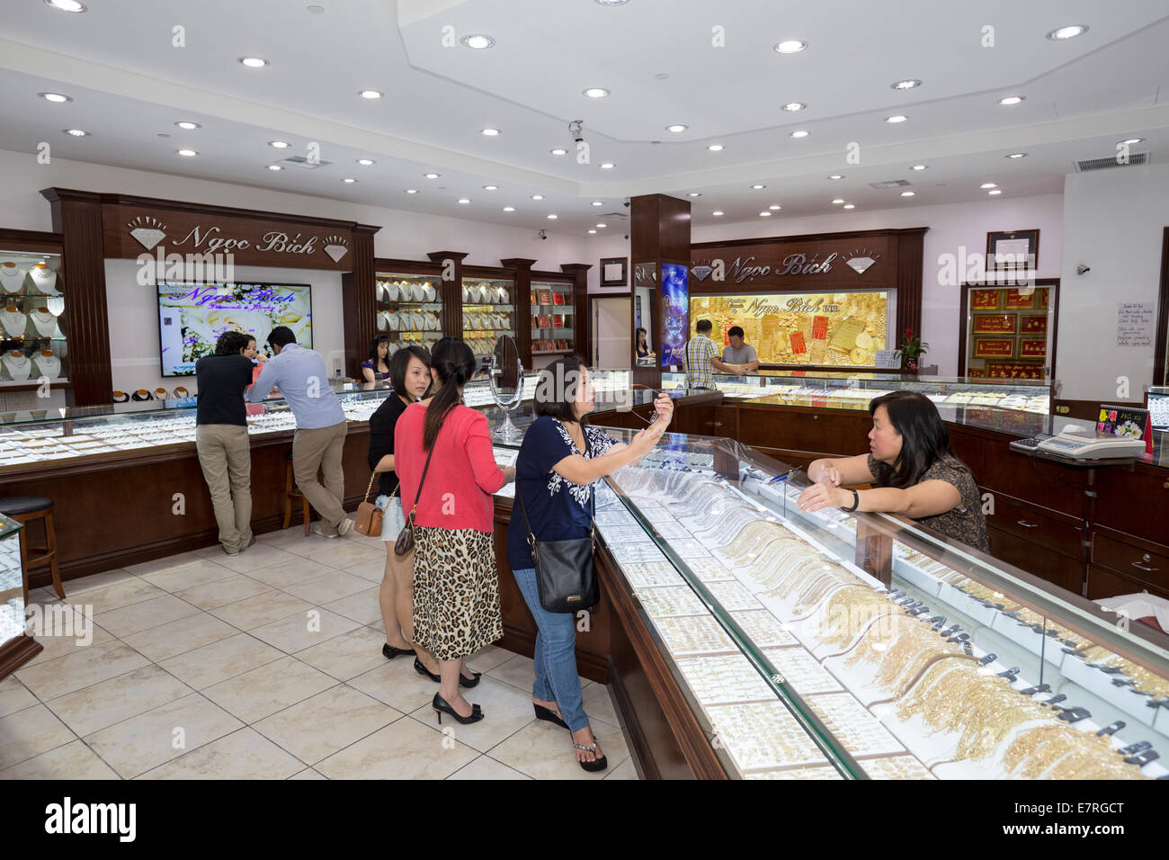 jewelry store in asian garden mall in the saigon
