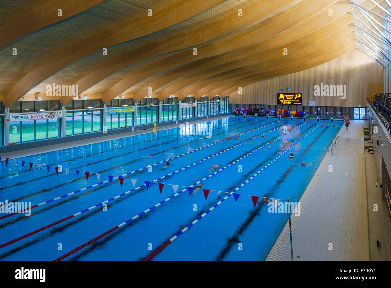 50 M Swimming Pool At Mountbatten Centre Portsmouth Stock