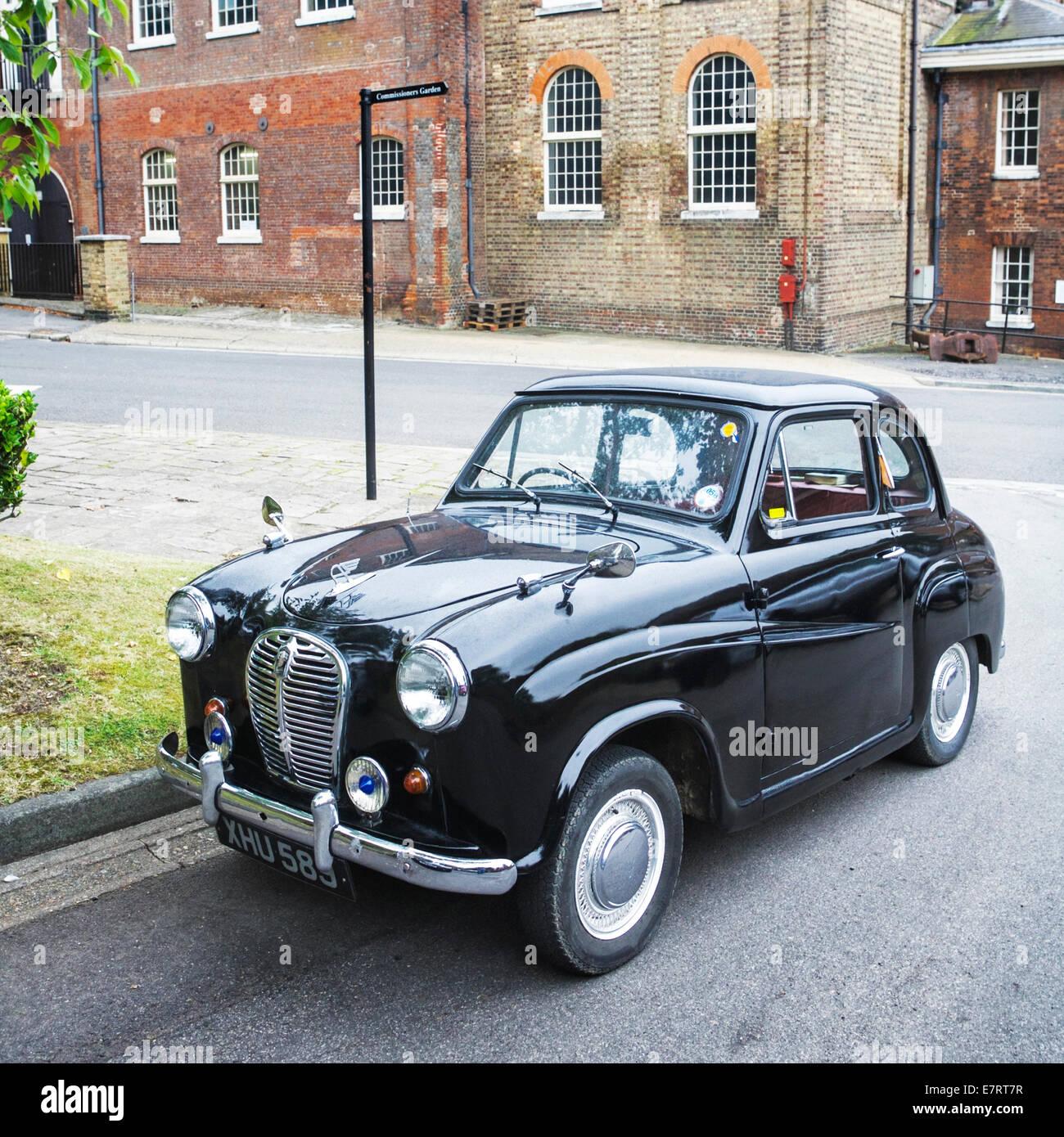 A Black Old British Car Cars At Chatham
