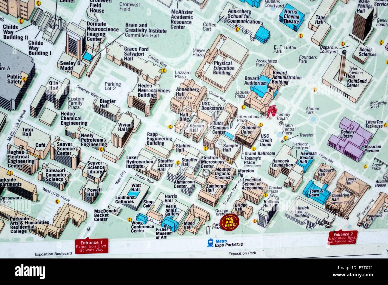 Map Of Usc La Pictures To Pin On Pinterest PinsDaddy - Map of usc columbia