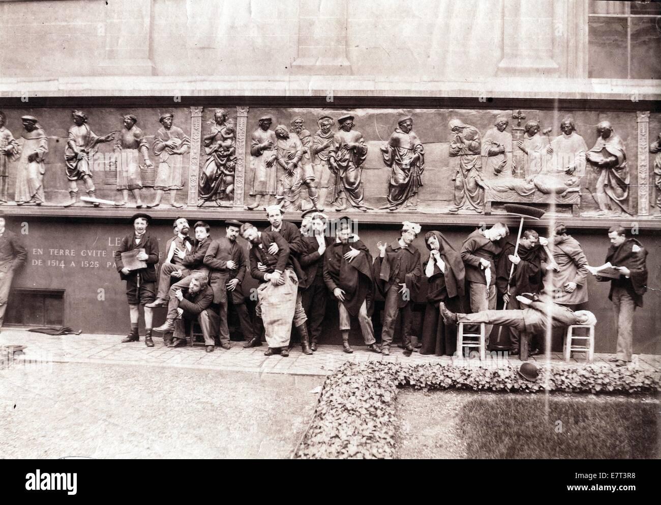 Bien-aimé Students, Ecole des Beaux Arts, Paris, ca 1871, by Gaudenzio  CE42