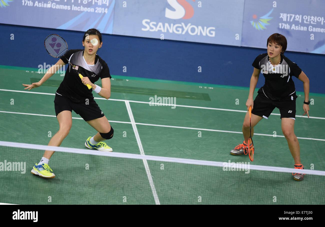 Incheon South Korea 24th Sep 2014 Hoo Vivian Kah Mun and Woon