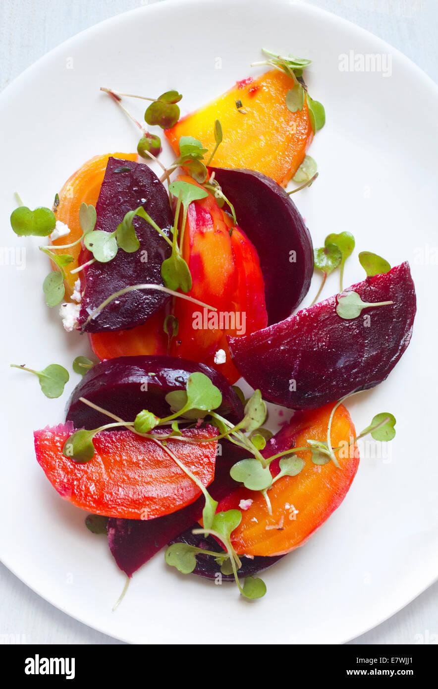 Yellow, Orange, And Red Beet Salad Stock Photo, Royalty Free Image ...