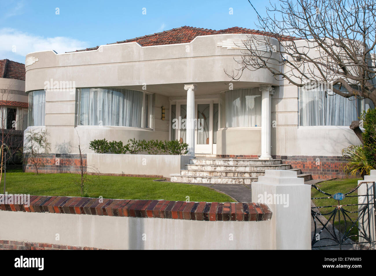 Stock Photo Waterfall Art Deco Style Homes In A Melbourne Suburb Usually Dating 1940 1950
