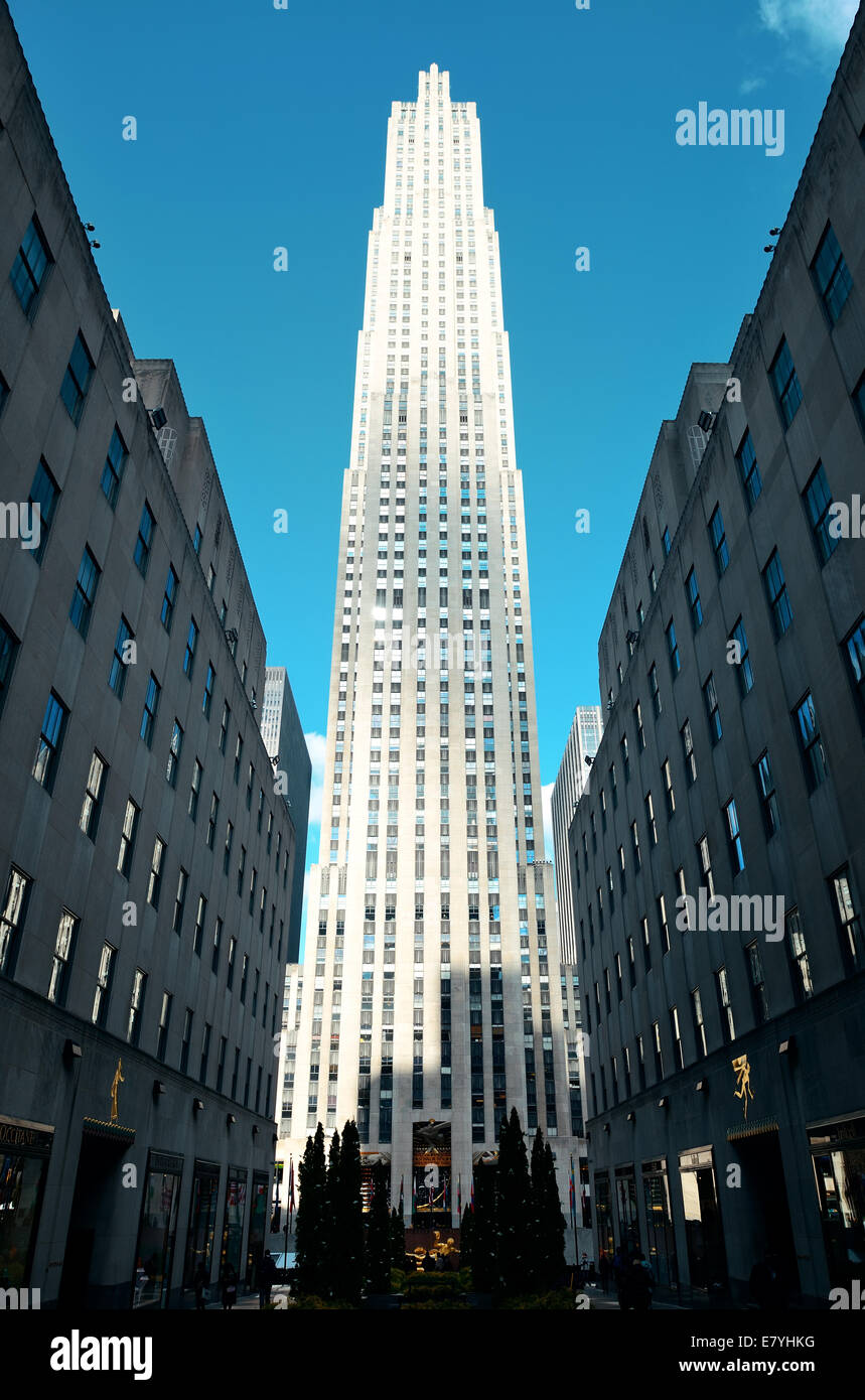 NEW YORK CITY NY MAR 30 Rockefeller Plaza street view on March