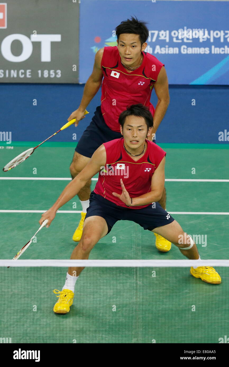 Incheon South Korea 26th Sep 2014 Keigo Sonoda Takeshi Kamura