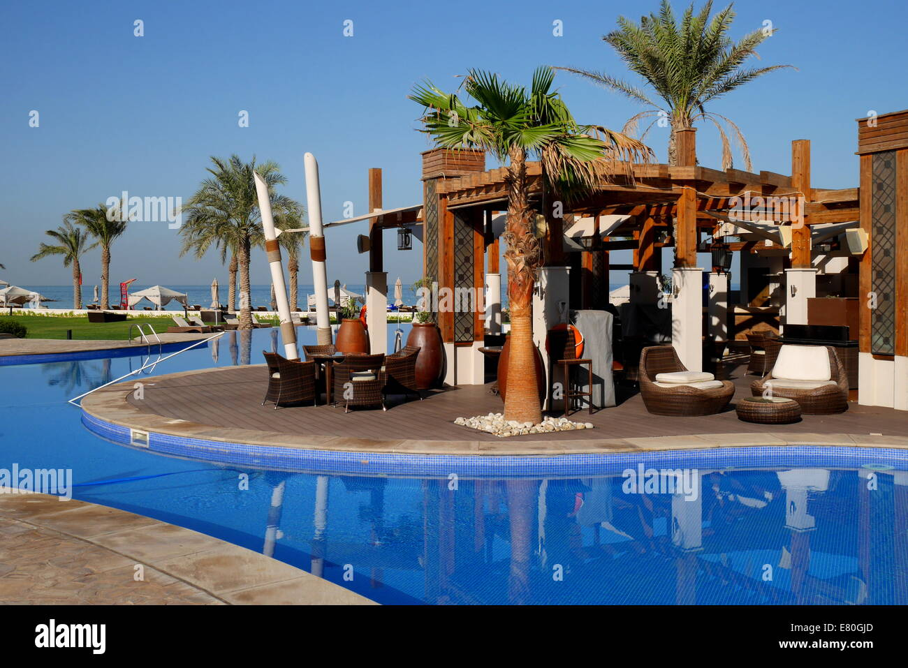 Pool Bar And Swimming Pool At The Beach Resort Of The Hotel Sofitel Stock Photo Royalty Free