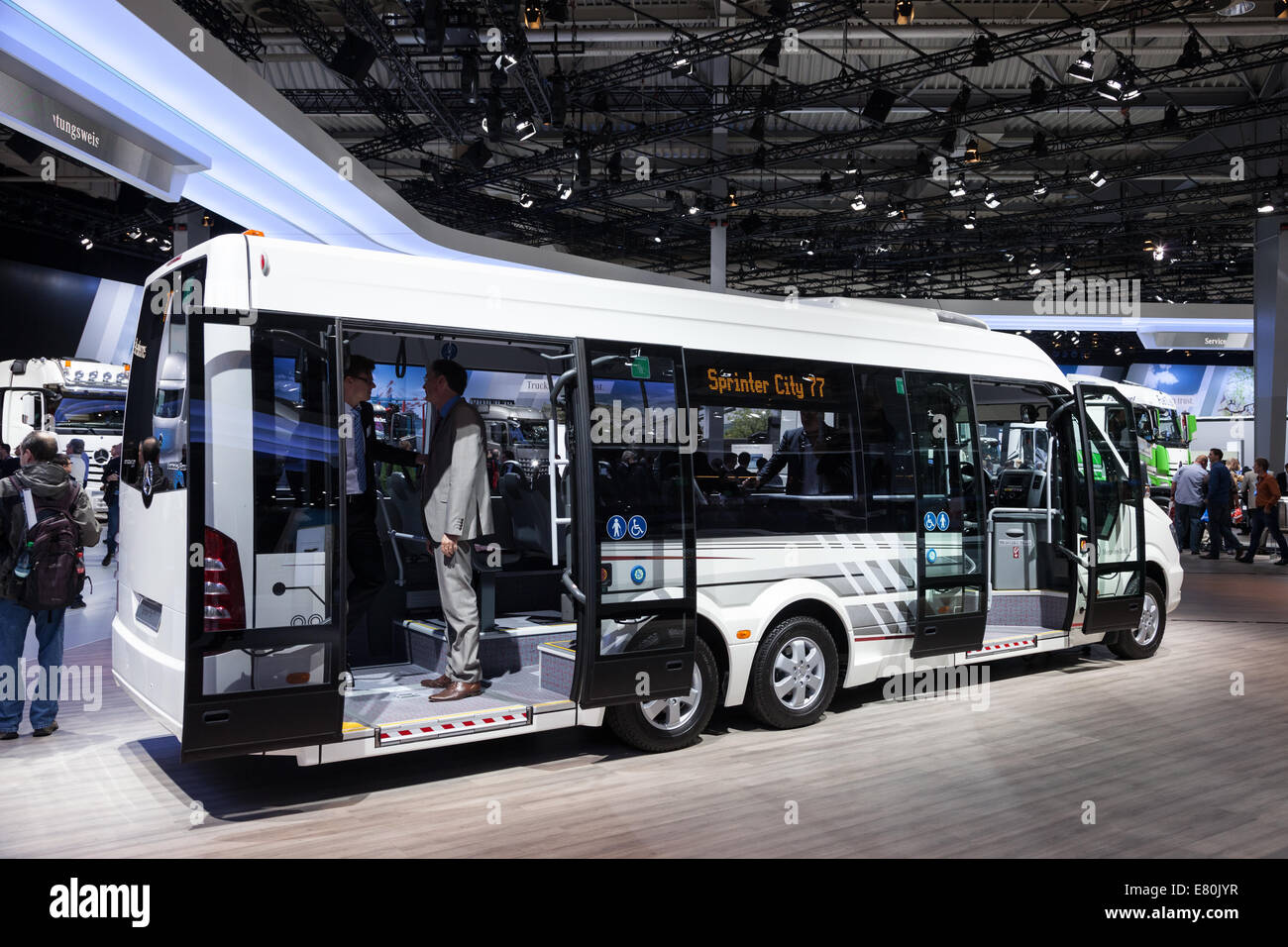 Mercedes benz sprinter city 77 at the 65th iaa commercial vehicles 2014 in hannover germany