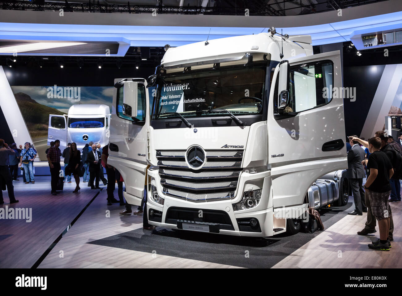 Mercedes benz 1848 axor more information - Mercedes Benz Actros 1848 Ls Truck At The 65th Iaa Commercial Vehicles 2014 In Hannover Germany