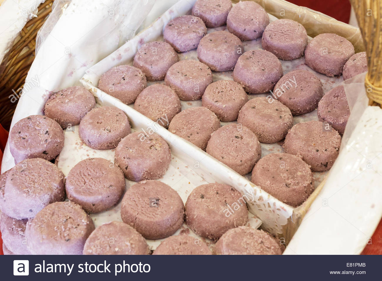 Purple Biscuits Stock Photo Royalty Free Image 73798491