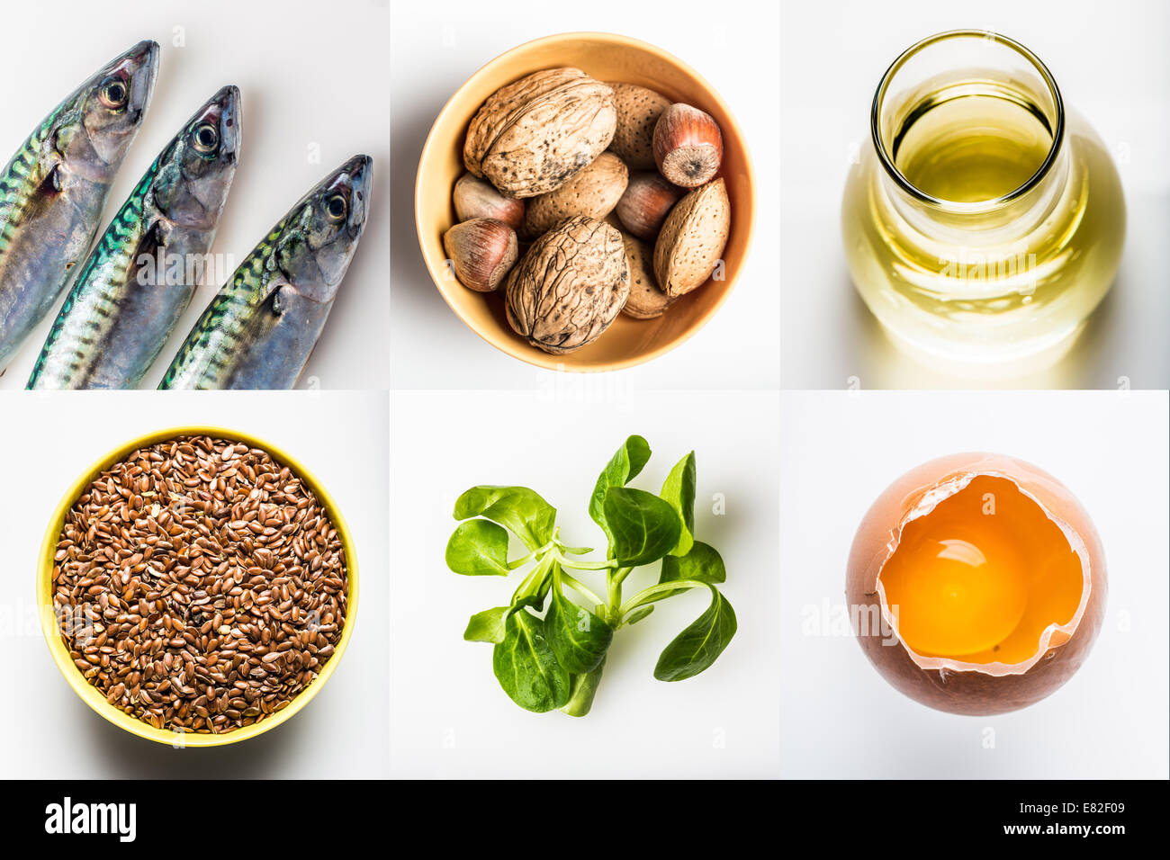 Omega 3 rich foods stock photo royalty free image for Fish rich in omega 3