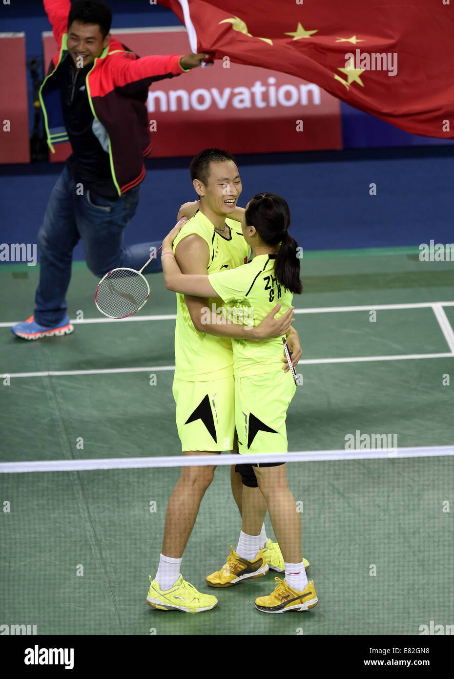 Incheon South Korea 29th Sep 2014 Zhang Nan L and Zhao