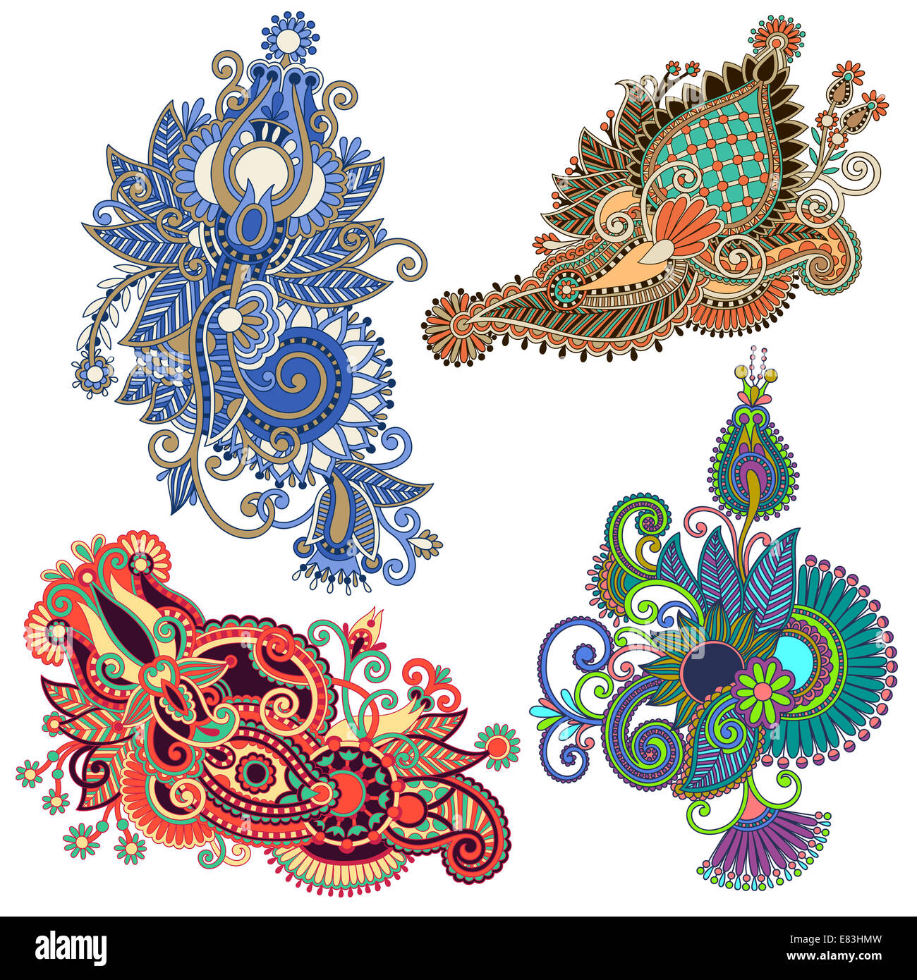 Line Art Ornate Flower Design : Original hand draw line art ornate flower design