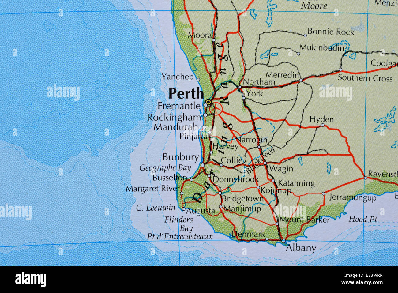 Map of perth australia stock photo 73844843 alamy map of perth australia gumiabroncs Image collections