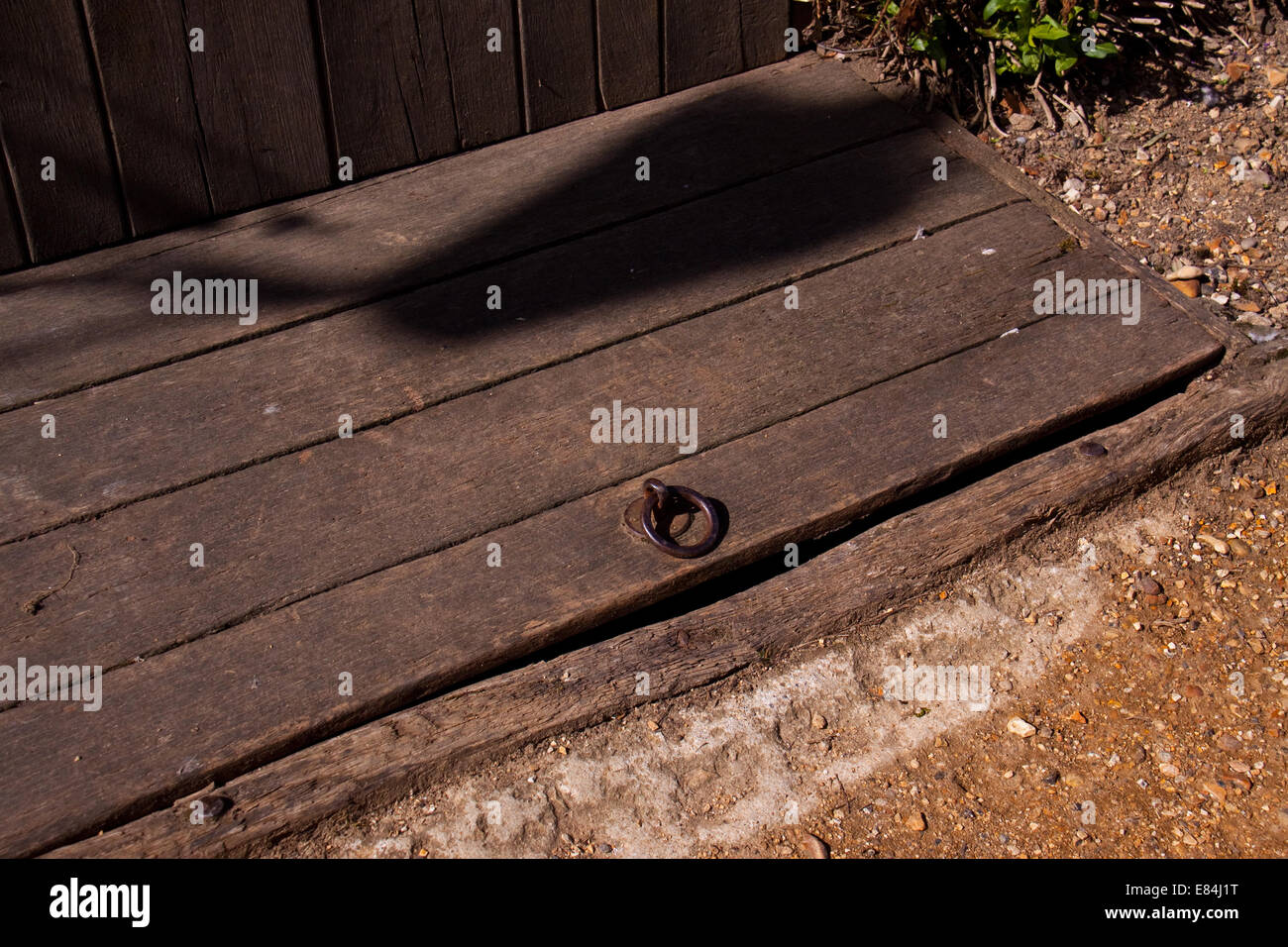 Traditional Wooden Trapdoor Stock Photo, Royalty Free Image ...
