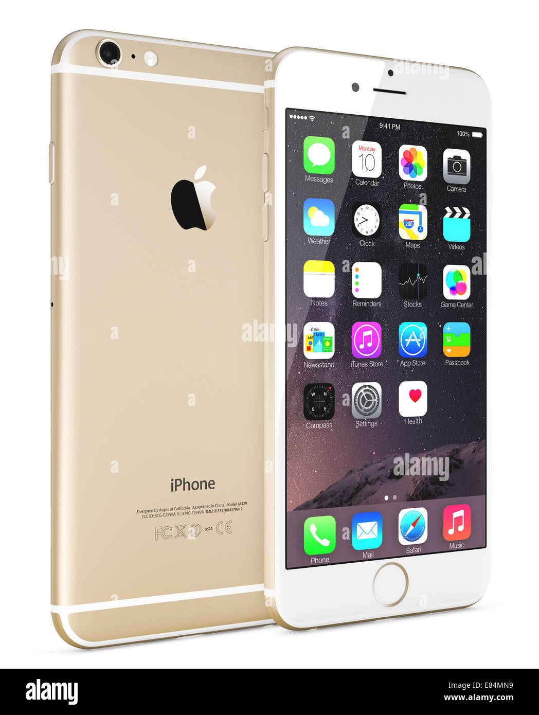 apple iphone 8 gold. apple gold iphone 6 plus showing the home screen with ios 8. iphone 8 l