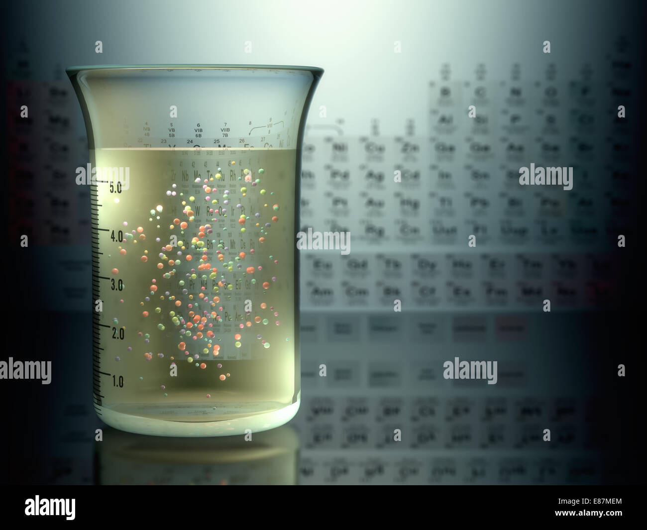 Test tubes with chemical elements inside and periodic table on test tubes with chemical elements inside and periodic table on background gamestrikefo Image collections