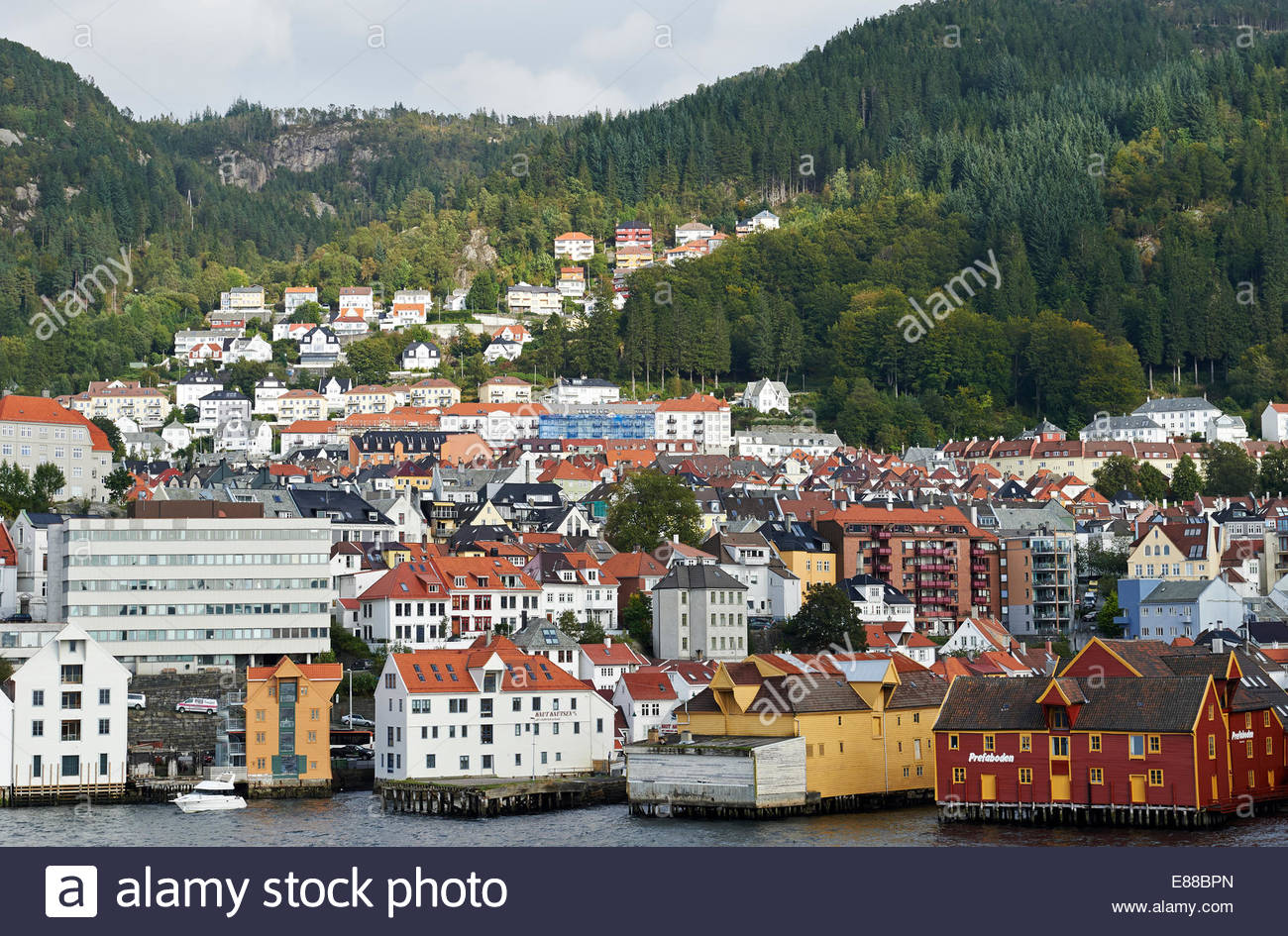 traditional scandinavian houses and modern buildings bergen stock photo traditional scandinavian houses and modern buildings bergen harbour bergen norway 2014