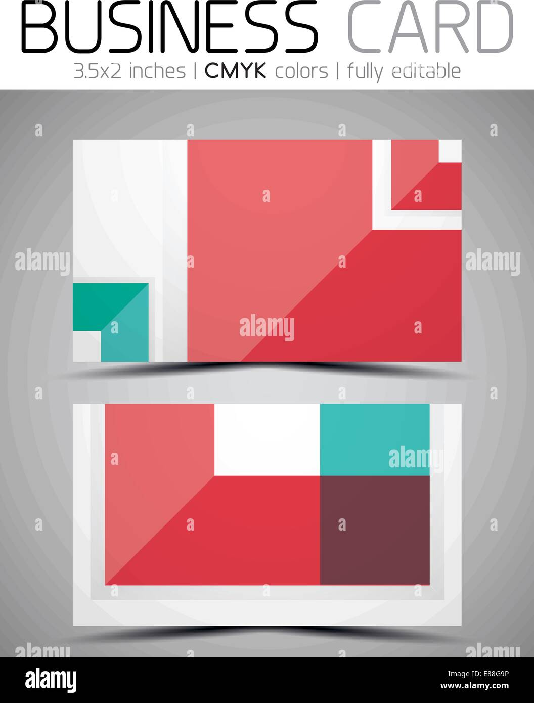 Vector business card design template - colorful geometric shapes ...