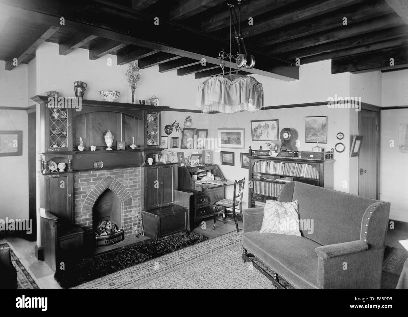 edwardian house interior. Interior of an Edwardian house in 1914  Photograph taken Ilkley Yorkshire England