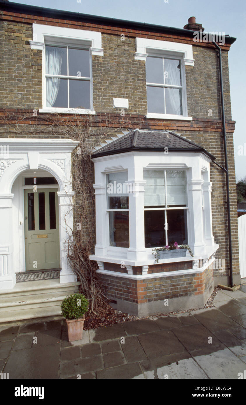 Victorian Bay Window : Traditional victorian semi detached house with bay window