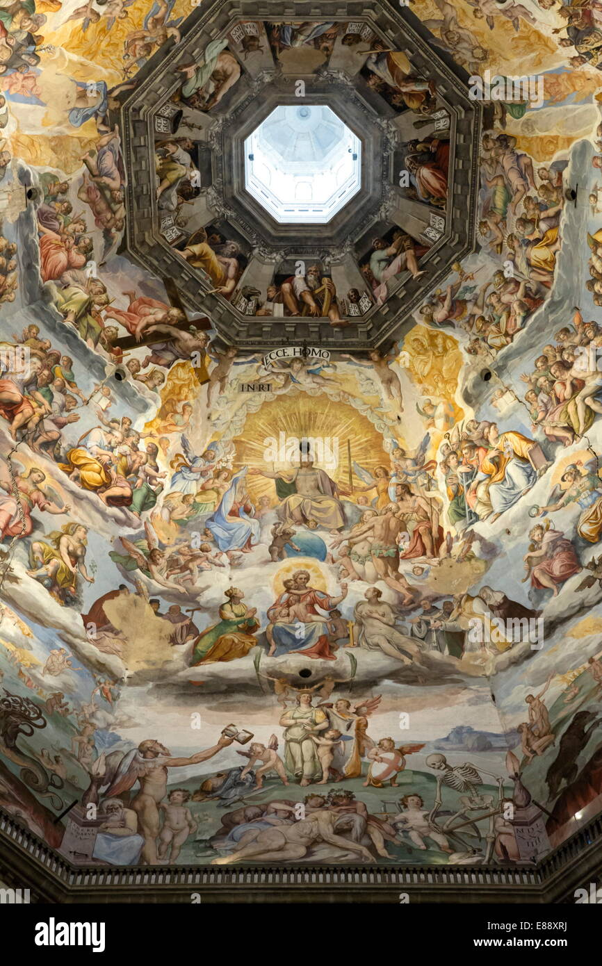 Dome fresco of The Last Judgement by Giorgio Vasari and ...