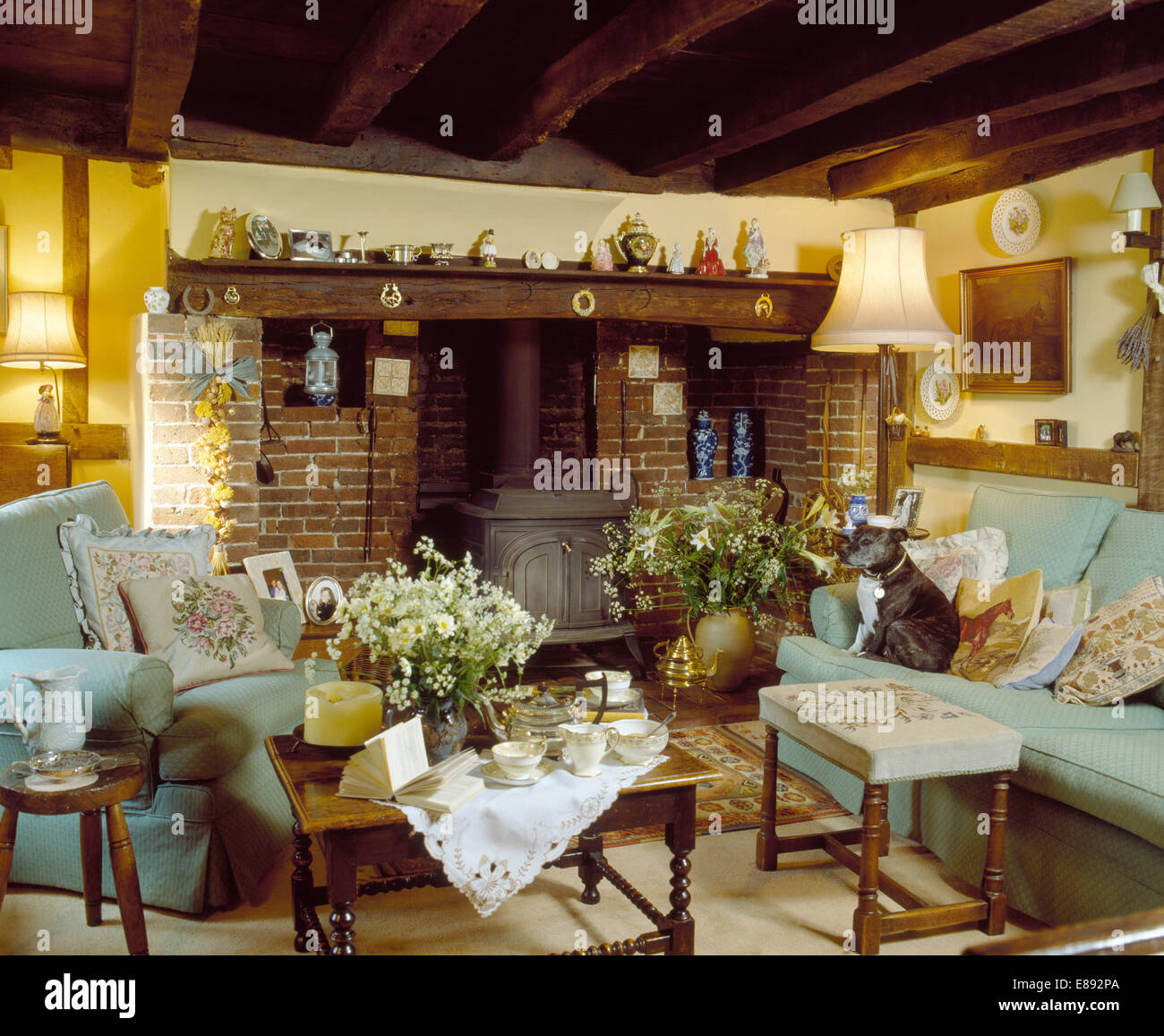 Cottage Living Room With Fireplace traditional cottage living room with an inglenook fireplace uk
