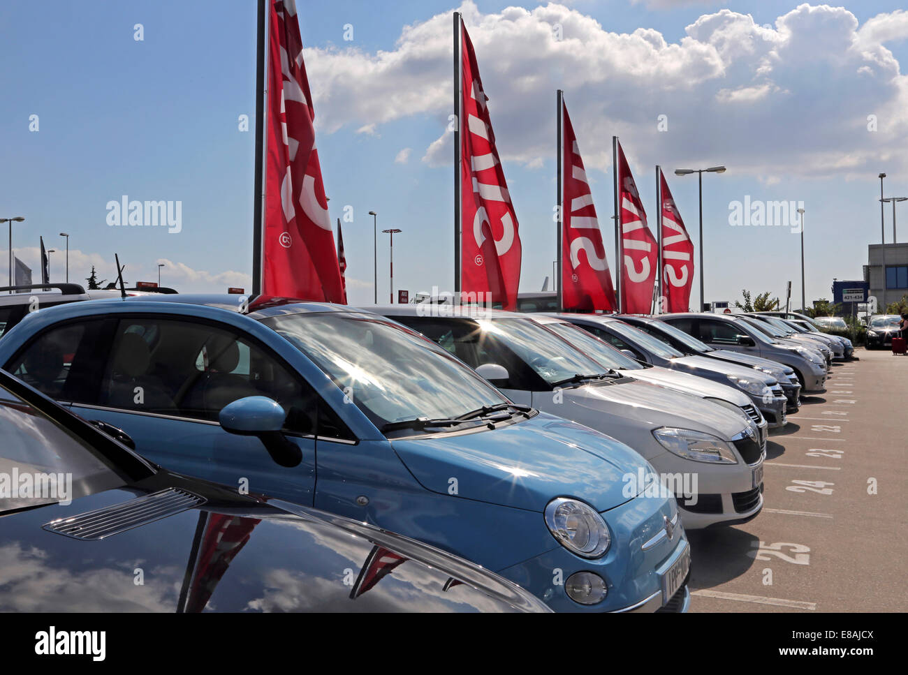 Athens greece athens international airport avis rental cars stock image