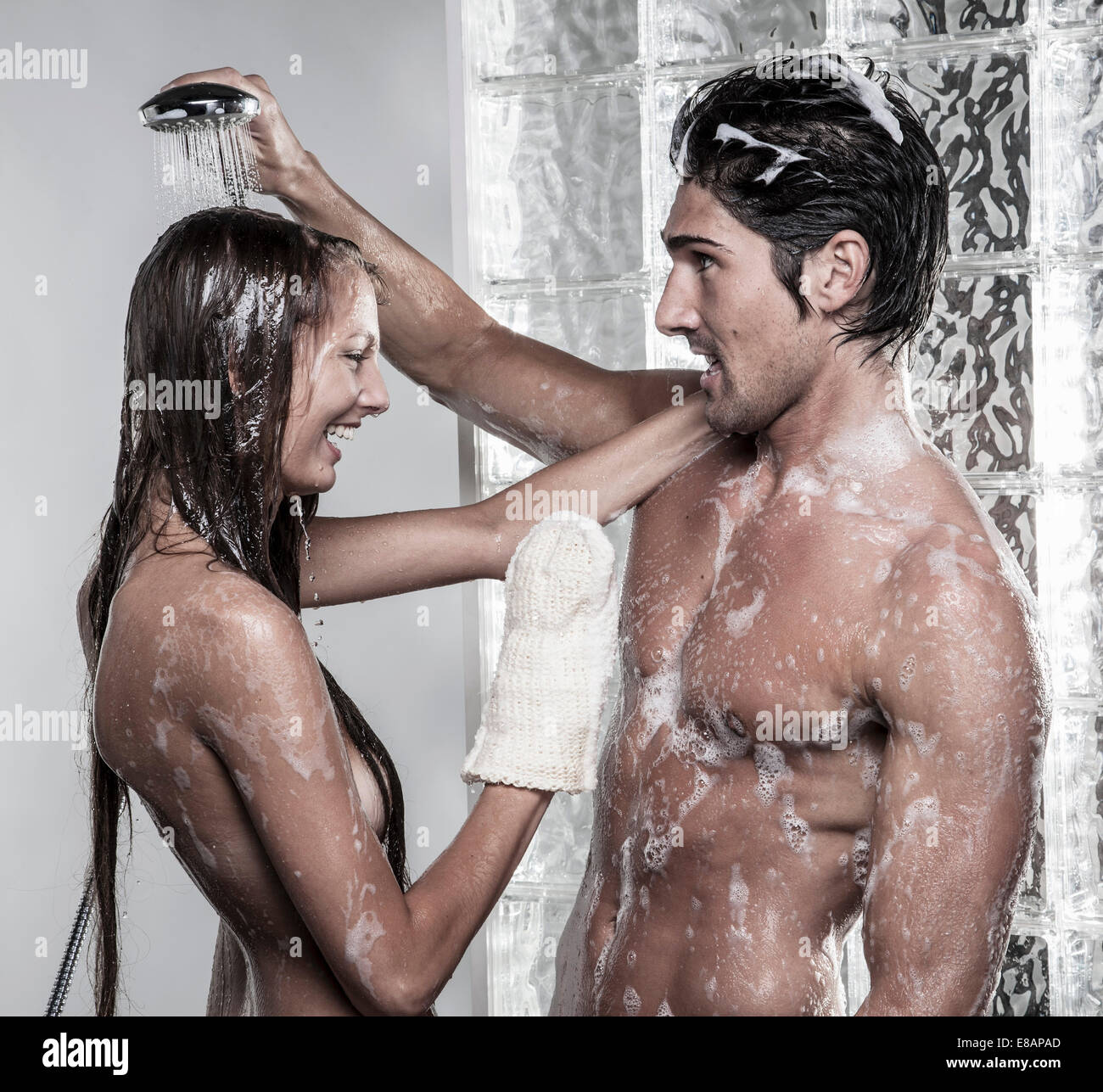 Get one man and woman shower together naked THE SIZE