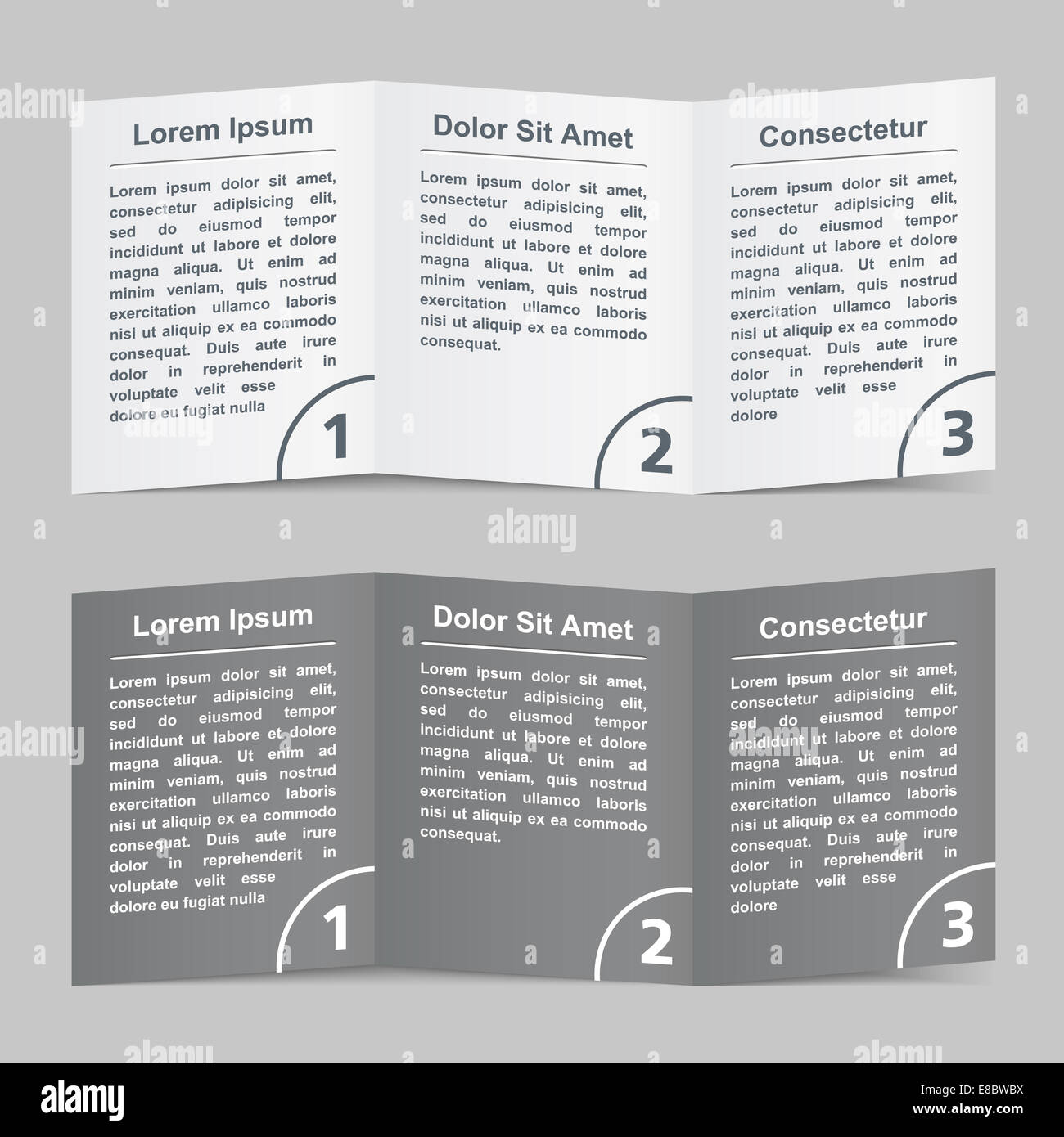 Brochure template with three pages stock photo royalty free image brochure template with three pages saigontimesfo