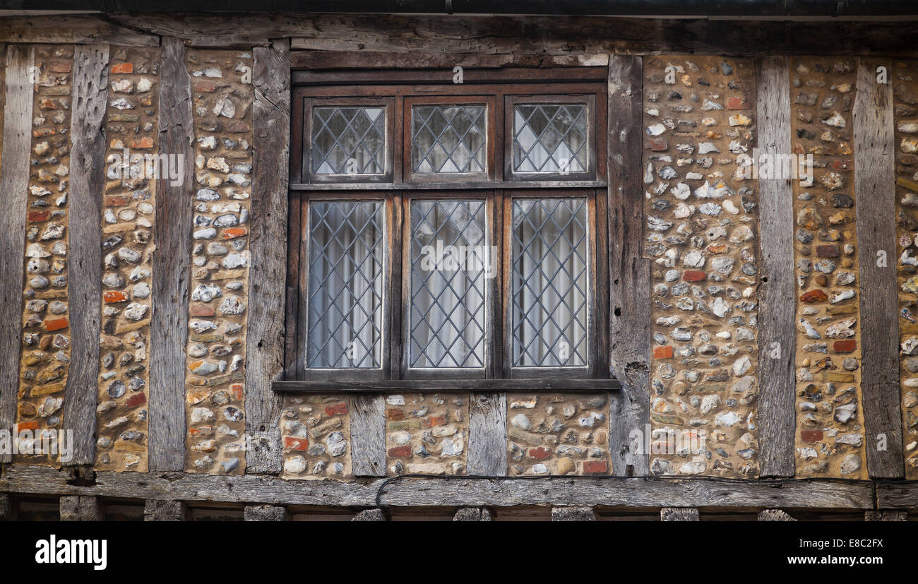 Tudor Style Windows Interesting Wood Framed Tudor Style House Flint Walls Lead Windowslittle . Inspiration Design