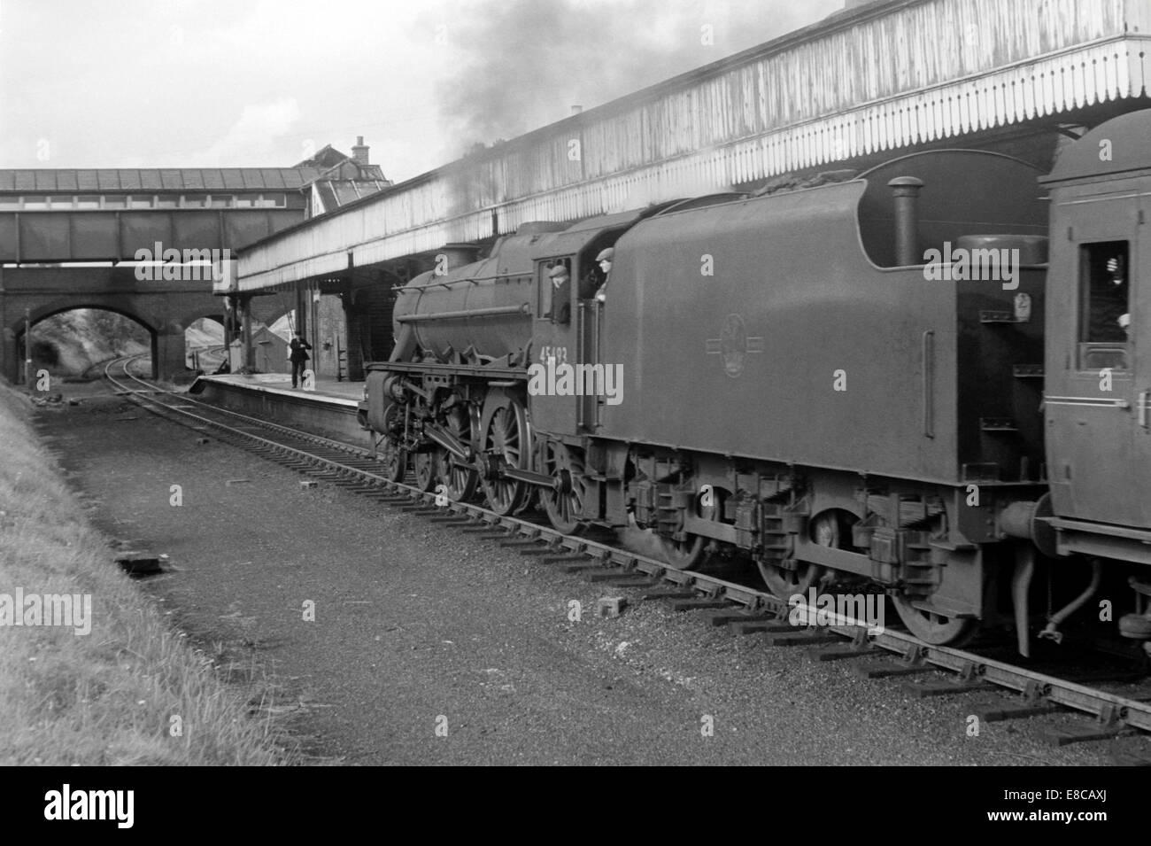 Original British Railways Steam Locomotive 45493 At