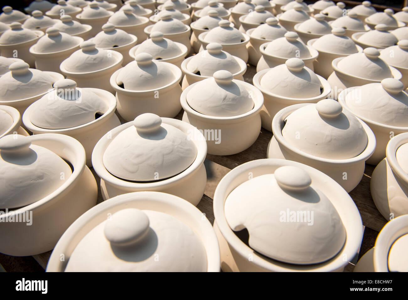 Half Done Of Ceramic Ware In Factory Lampang