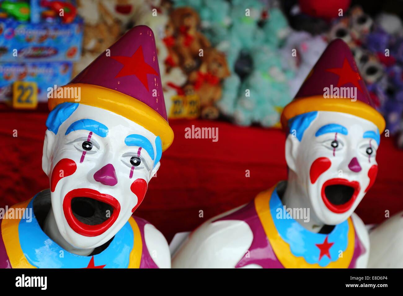 sideshow clown game stock photo royalty free image 48195196 alamy